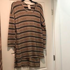 Blu pepper striped sweater tunic